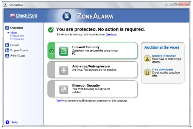 ZoneAlarm Antivirus 3